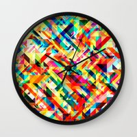 Summertime Geometric Wall Clock