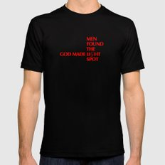 God made liGht - by Genu WORDISIAC™ TYPOGY™ Mens Fitted Tee Black SMALL