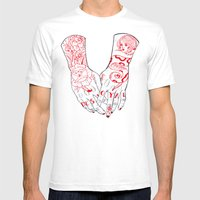Disloyal Mens Fitted Tee White SMALL
