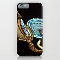 Abalone with Historic Maori Fishing Hooks iPhone 6 Slim Case