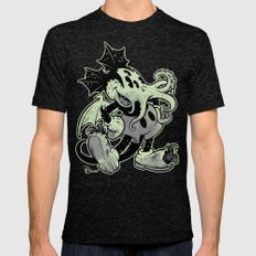 MICKTHULHU MOUSE (monochrome) Mens Fitted Tee Tri-Black SMALL