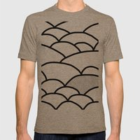 ROLLING HILLS Mens Fitted Tee Tri-Coffee SMALL