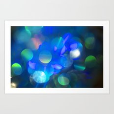 Bokeh in Blue Art Print