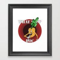 What's Up Doc Framed Art Print