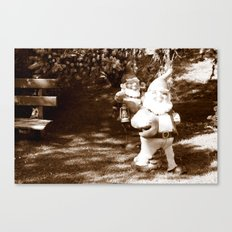 Liberated Lawn Gnomes Canvas Print