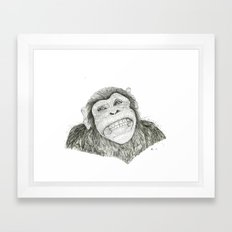 Smile like you mean it  Framed Art Print