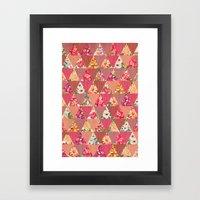 GEOMETRIC MODERN FLOWERS Framed Art Print