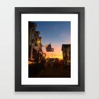 Clarke Cooke House at Sunset Framed Art Print