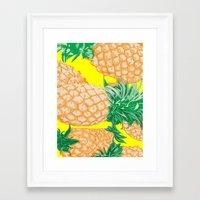 Pineapple, 2013. Framed Art Print