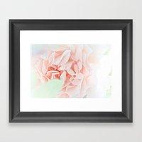 soft and pink Framed Art Print