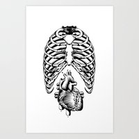 Heart&Chest Art Print