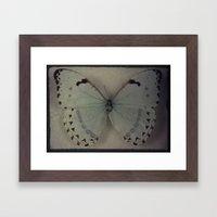 Papillon _ Vintage Flutter Framed Art Print