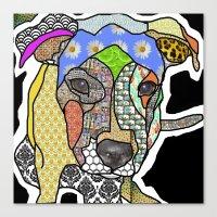Pittbull Pup Canvas Print