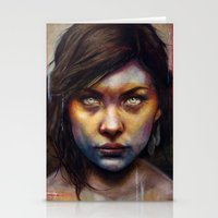 woman Stationery Cards featuring Una by Michael Shapcott