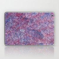 Purple Doodles Laptop & iPad Skin