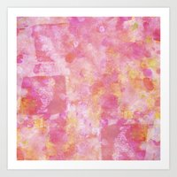 Abstract Pink Painting Art Print