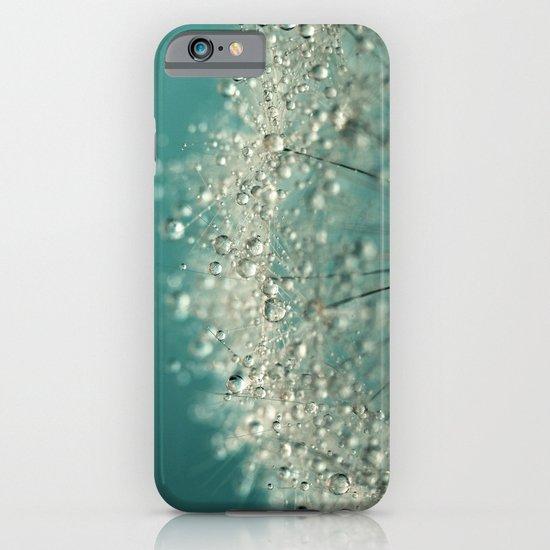 Cyan Sparkles iPhone & iPod Case