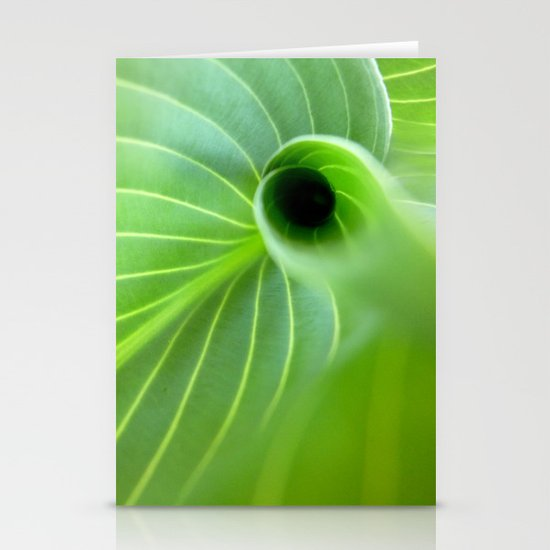 Green Swirl Stationery Card