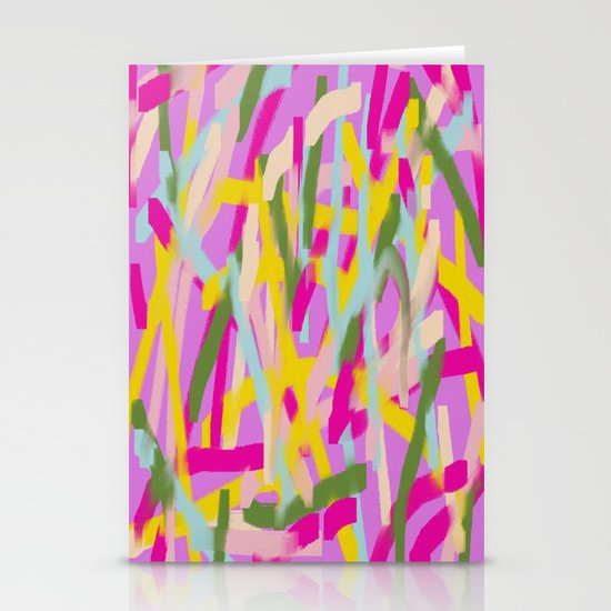 Lines Lines Lines Stationery Card