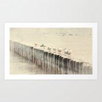 Praia Art Print