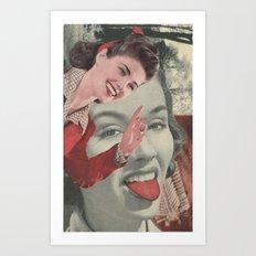 Tongue Brush Art Print