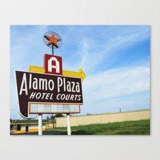Alamo Plaza Hotel Courts Canvas Print