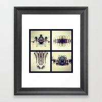 Lights Collage Framed Art Print