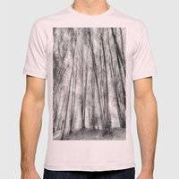 The Ghostly Forest Mens Fitted Tee Light Pink SMALL