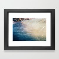 So Blue Framed Art Print