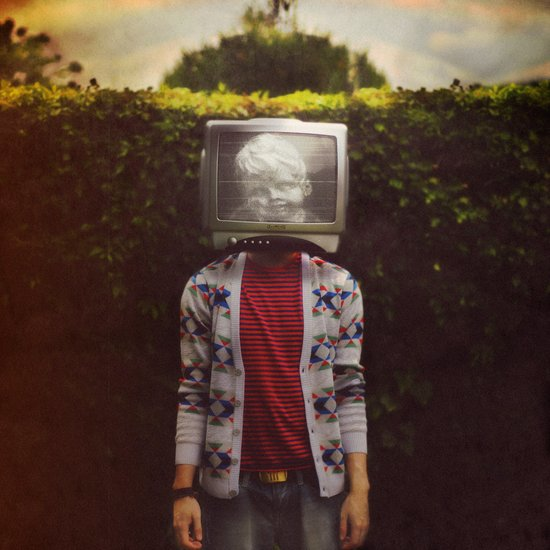 This TV haze sucks me through. I watch the world from the inside Canvas Print