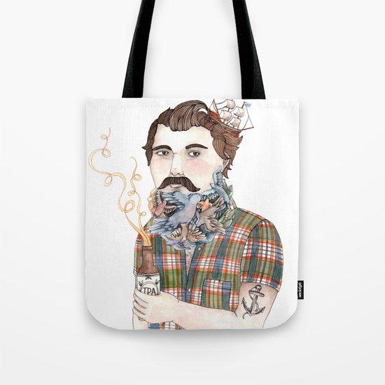 Flock of Beards Tote Bag