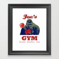 Joe's Gym Miami Beach US… Framed Art Print