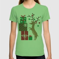 Reindeer Womens Fitted Tee Grass SMALL