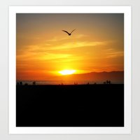 Venice Beach Flying Thro… Art Print