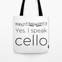 I speak cello Tote Bag
