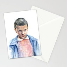 Eleven Stranger Things Watercolor Portrait Stationery Cards