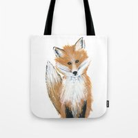 Fox On Snow Tote Bag