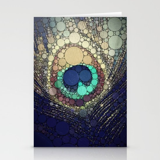 Peacock Feather  Stationery Card