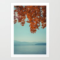 Autumn lights and summer serenity Art Print