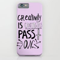 Creativity is Contagious pass it on iPhone 6 Slim Case