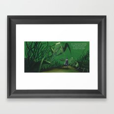 POEM OF INSECTS Framed Art Print