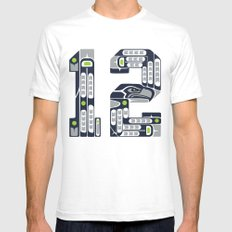 Seattle 12th Man SMALL Mens Fitted Tee White