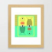 Eyes sea you Framed Art Print