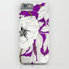 Purple Peonies iPhone 6s Slim Case