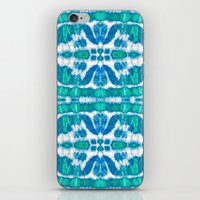 Tie-Dye Twos Aqua iPhone & iPod Skin