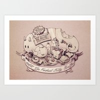 Catfood. Art Print