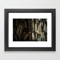 Kyoto Name Stickers 2 Framed Art Print
