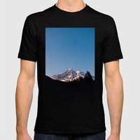 Mountain Sunset Mens Fitted Tee Black SMALL