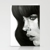 hair Stationery Cards featuring Girl by BlackNYX