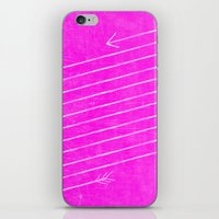 The Longest Arrow (Techno Pink) iPhone & iPod Skin